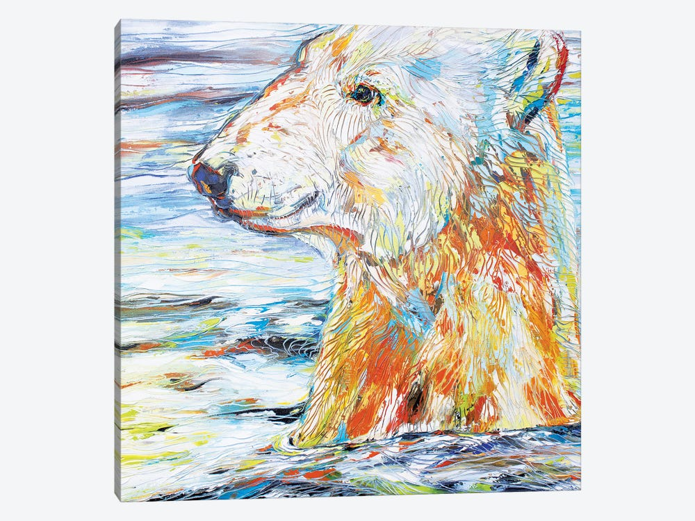 Polar Gaze by Kathleen Steventon 1-piece Canvas Art Print