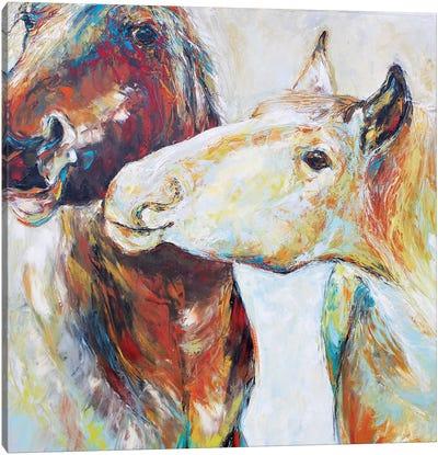 The Light Tease Canvas Art Print