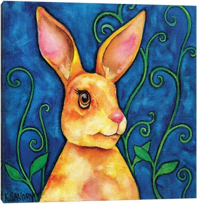 The Hare And The Beanstalk Canvas Art Print