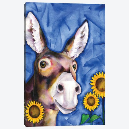 My Ass, Your Mule Canvas Print #KSY87} by Karen Savory Art Print