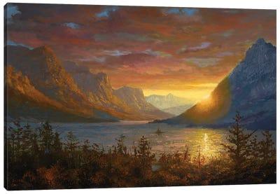 St. Mary's Lake, Montana (Study) Canvas Art Print