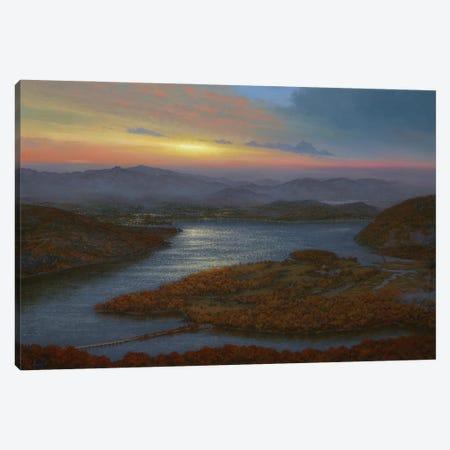 Sunrise Over Iona Island From Bear Mountain Canvas Print #KSZ17} by Ken Salaz Canvas Print