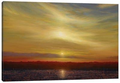 Sunset From Ocean Cliff - Newport, RI Canvas Art Print