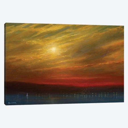 Sunset Over Nyack - 7.16.17 Canvas Print #KSZ23} by Ken Salaz Canvas Art Print