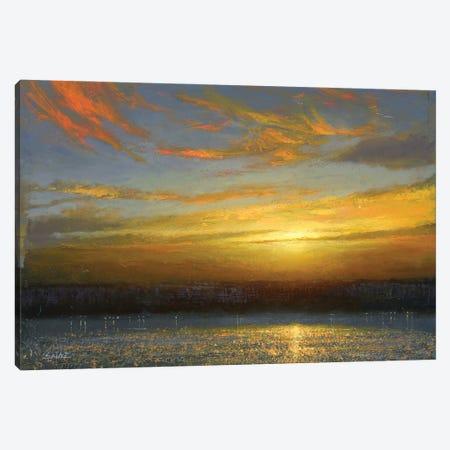Sunset Over Palisades Canvas Print #KSZ24} by Ken Salaz Canvas Art