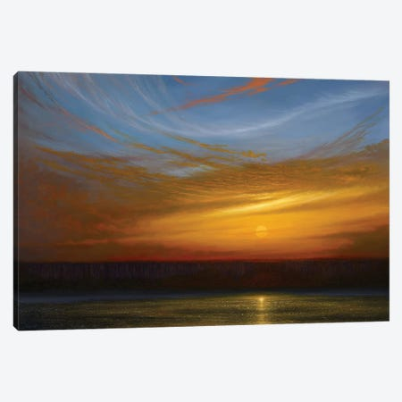 Swan Song Sunset Canvas Print #KSZ26} by Ken Salaz Canvas Art