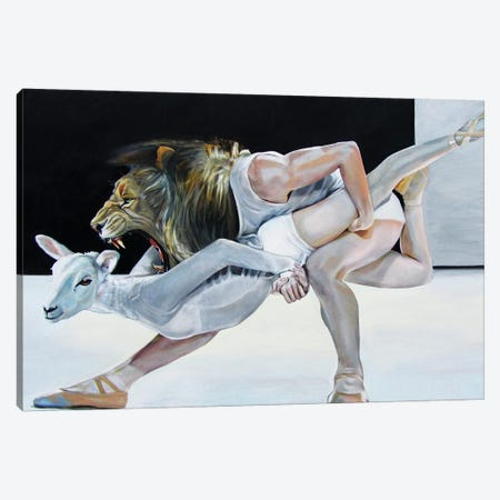 Lion And Lamb 3-Piece Canvas #KTA11} by Katharine Alecse Canvas Wall Art