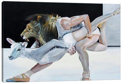 Lion And Lamb Canvas Art Print