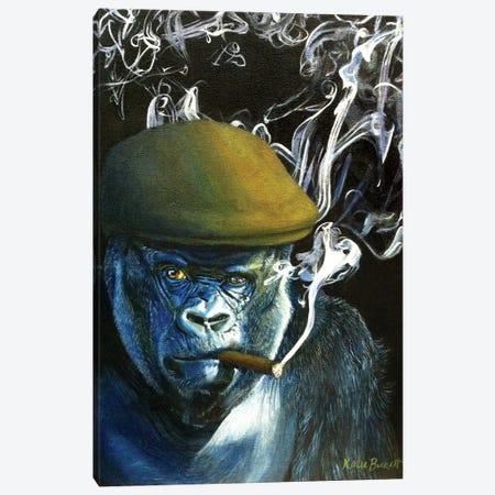 Silverback Smoking Canvas Print #KTA15} by Katharine Alecse Canvas Print