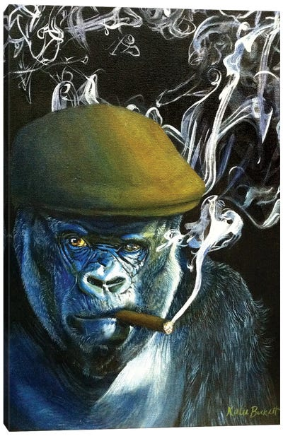Silverback Smoking Canvas Art Print