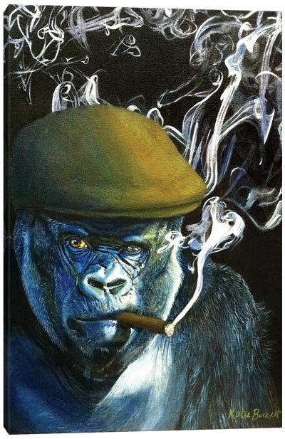 Silverback Smoking Canvas Art Print