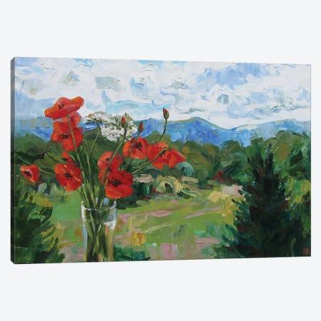 Poppies Canvas Print #KTB102} by Kateryna Bortsova Canvas Artwork