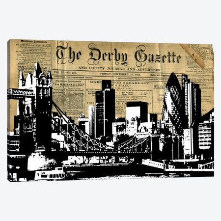 London Gazette Canvas Print #KTB110} by Kateryna Bortsova Canvas Print