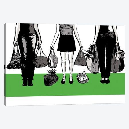 Shopping Time Canvas Print #KTB114} by Kateryna Bortsova Canvas Art