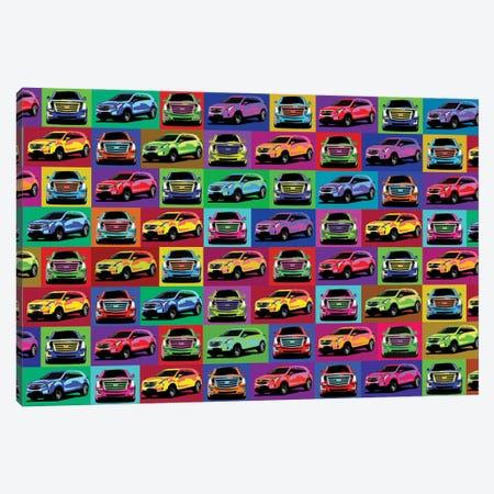 Cadillac Puzzle Canvas Print #KTB115} by Kateryna Bortsova Canvas Wall Art