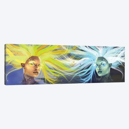 Sun And Moon Canvas Print #KTB128} by Kateryna Bortsova Canvas Art