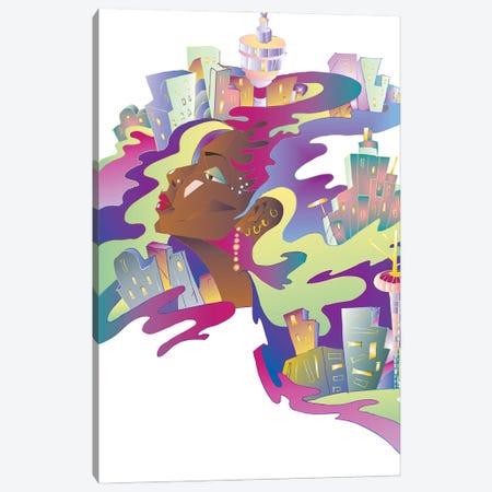 Dream City Canvas Print #KTB160} by Kateryna Bortsova Canvas Artwork