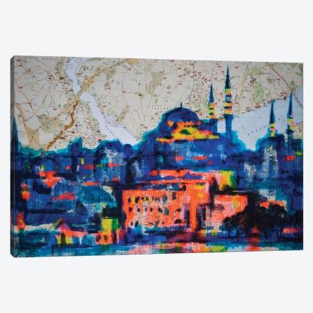 Magic Istanbul Canvas Print #KTB164} by Kateryna Bortsova Art Print