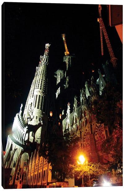 Barcelona At Night Canvas Art Print