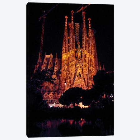 Sagrada Familia Barcelona Canvas Print #KTB166} by Kateryna Bortsova Art Print