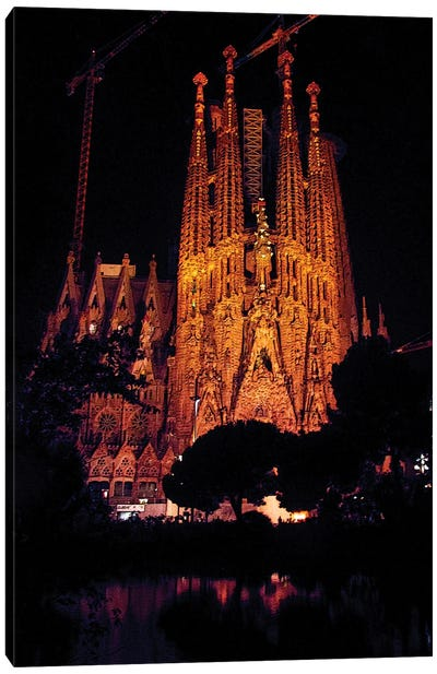 Sagrada Familia Barcelona Canvas Art Print