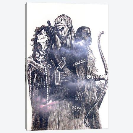 The Witcher Canvas Print #KTB169} by Kateryna Bortsova Canvas Wall Art