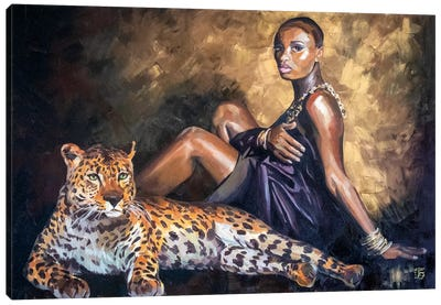 Savage Girl Canvas Art Print