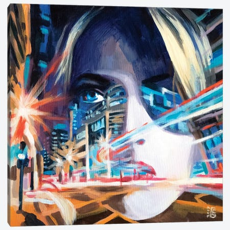 Neon Motion Canvas Print #KTB32} by Kateryna Bortsova Canvas Print