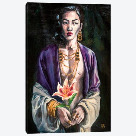 Night Flower Canvas Print #KTB36} by Kateryna Bortsova Canvas Artwork