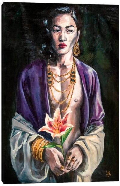 Night Flower Canvas Art Print