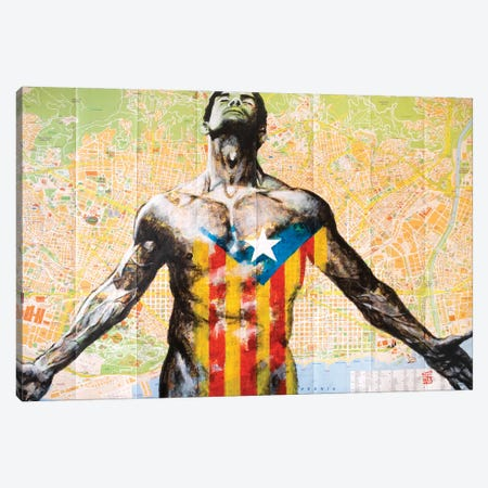 Barcelona Canvas Print #KTB37} by Kateryna Bortsova Canvas Wall Art