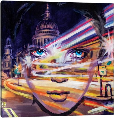 City Light Canvas Art Print