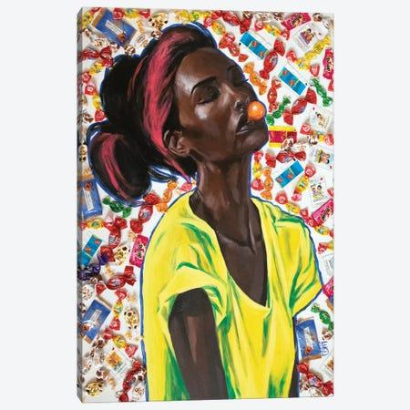 Bubblegum Love Canvas Print #KTB43} by Kateryna Bortsova Canvas Wall Art