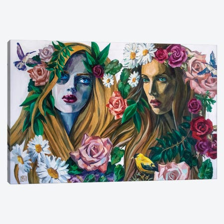Forest Nymphs 3-Piece Canvas #KTB4} by Kateryna Bortsova Art Print