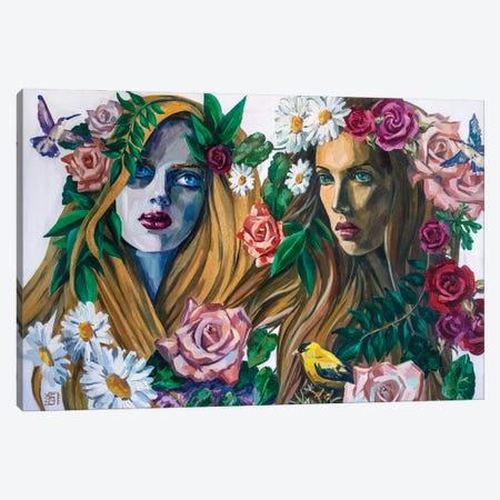 Forest Nymphs Canvas Print #KTB4} by Kateryna Bortsova Art Print