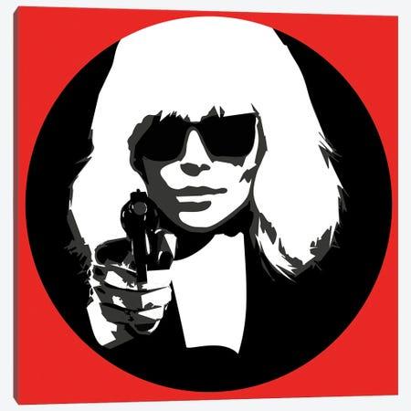 Atomic Blonde at Gun point Canvas Print #KTB50} by Kateryna Bortsova Canvas Art Print