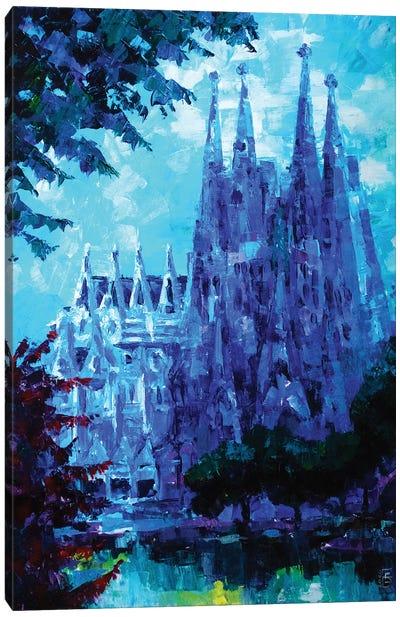 Barcelona Sagrada Familia Canvas Art Print