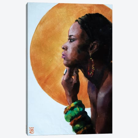 African Beauty Canvas Print #KTB55} by Kateryna Bortsova Canvas Art
