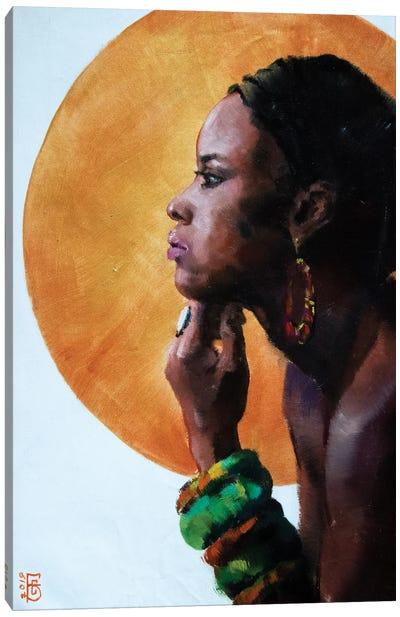 African Beauty Canvas Art Print