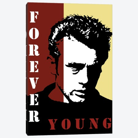 Forever Young James Dean Canvas Print #KTB57} by Kateryna Bortsova Canvas Art