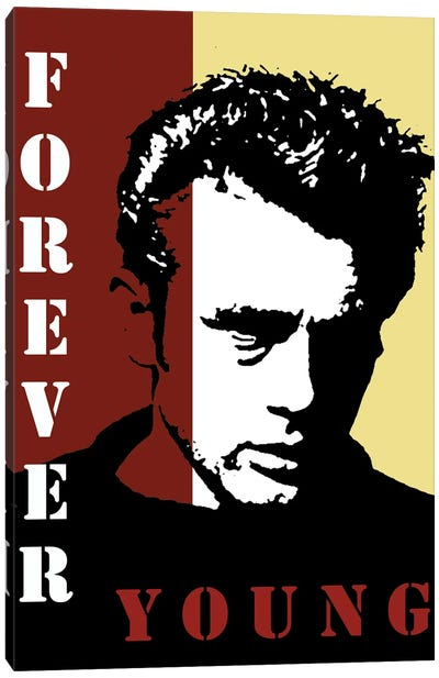 Forever Young James Dean Canvas Art Print