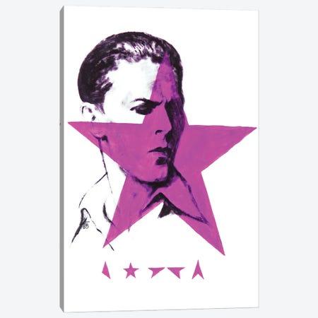Black Star Bowie Canvas Print #KTB61} by Kateryna Bortsova Canvas Wall Art