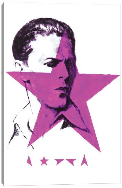 Black Star Bowie Canvas Art Print