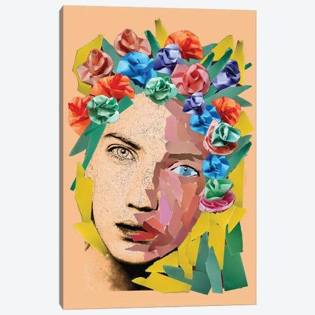 Paper Girl Canvas Print #KTB65} by Kateryna Bortsova Canvas Print