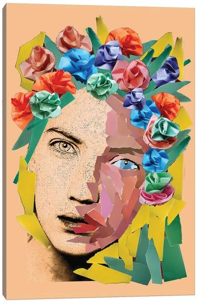 Paper Girl Canvas Art Print