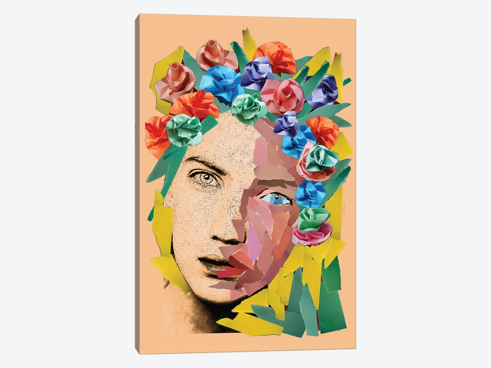 Paper Girl by Kateryna Bortsova 1-piece Canvas Art