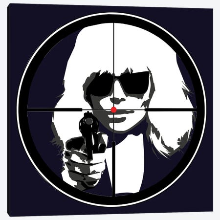 At Gun Point Atomic Blonde Canvas Print #KTB68} by Kateryna Bortsova Canvas Wall Art