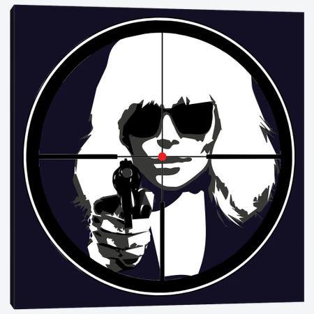 At Gun Point Atomic Blonde Canvas Print #KTB68} by Kateryna Bortsova Canvas Wall Art