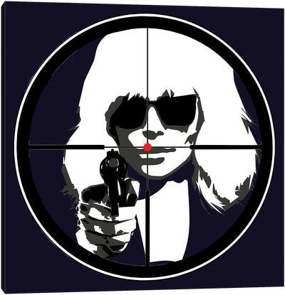 At Gun Point Atomic Blonde Canvas Art Print