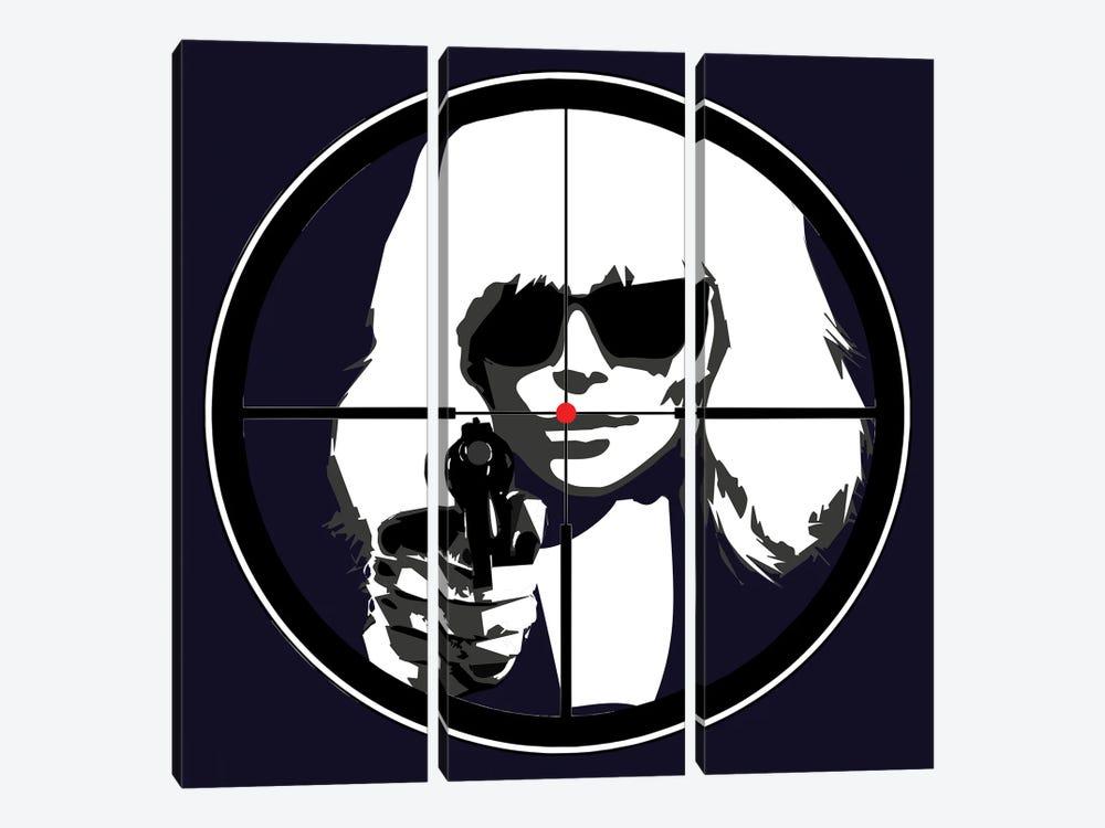 At Gun Point Atomic Blonde by Kateryna Bortsova 3-piece Canvas Art Print